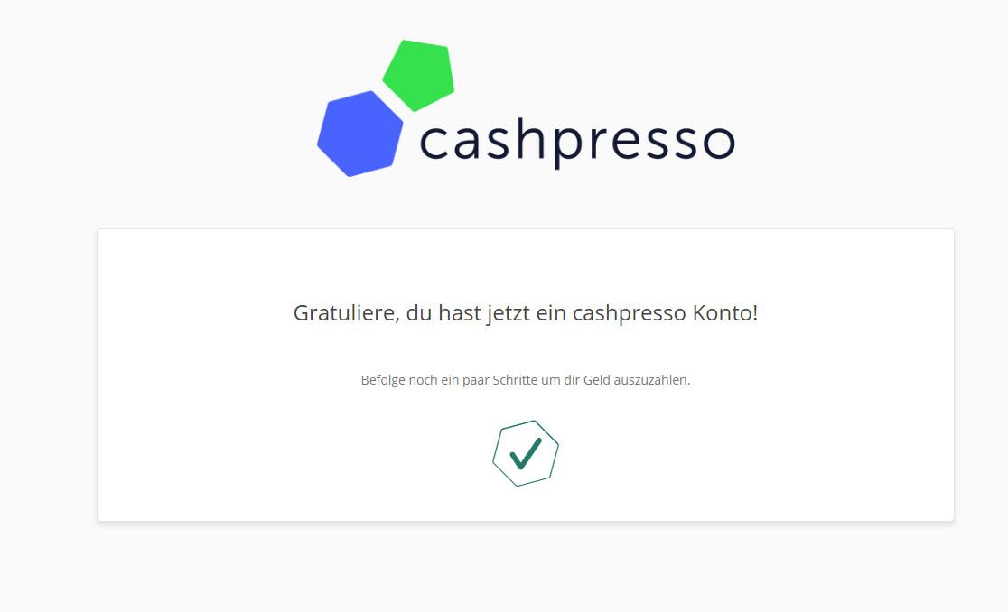 cashpresso kredit test anmeldung erfolgreich