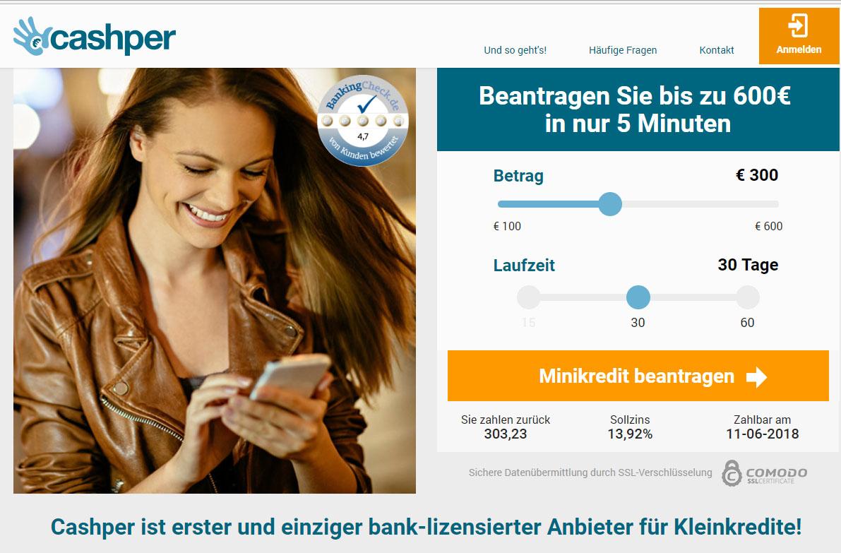 Cashper Kredit Test Erfahrungen Österreich